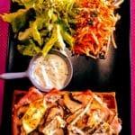 Gaufre salée garnie et salade de crudité au FREAK le Havre