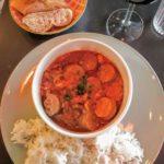 Rougail saucisse au restaurant la Colombe au Havre