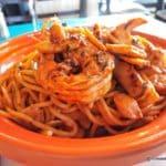 Spaghettis aux fruits de mer au restaurant l'Olivier au Havre