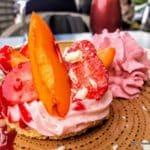 tartelette fraise abricot au restaurant Atelier au Havre