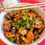 Wok légumes au restaurant chinois Le Havre