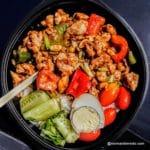 Bowl poulet légumes au restaurant chinois Chef Panda le Havre