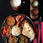 Assiette Thali au restaurant indien le Havre
