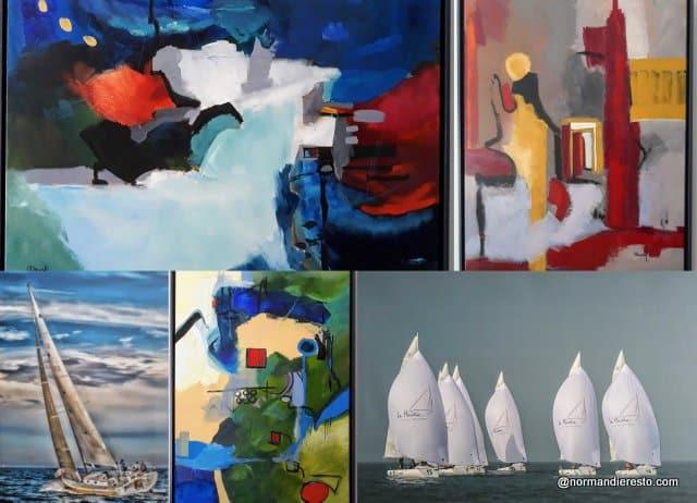 Exposition toiles et photos au restaurant