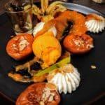 Abricot rôti au restaurant l'Anectode au Havre